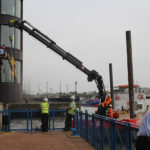 Glass-Replacement-using-barge-with-a-5-tonne-crane